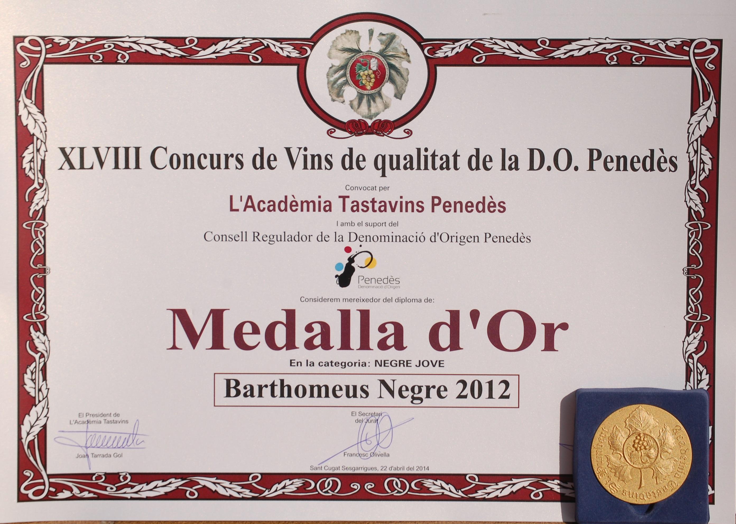 Diploma i Medalla d'Or